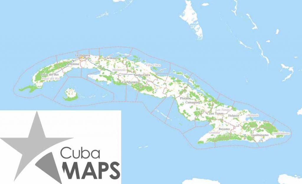 turismo, Feria, mapa, Cuba