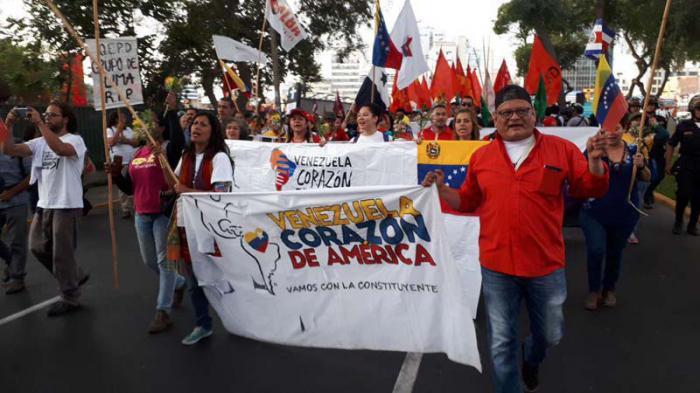 Cumbre, Américas, marcha, Perú, Venezuela, Lula