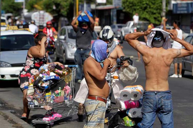 Nicaragua, saqueos, protestas