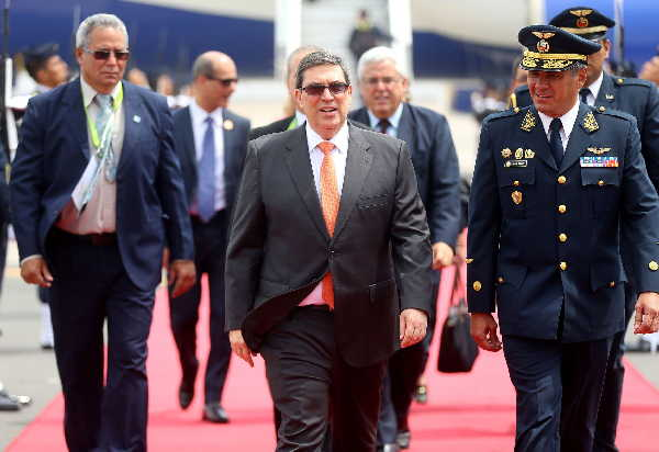 LLegada de Bruno Rodriguez a Lima