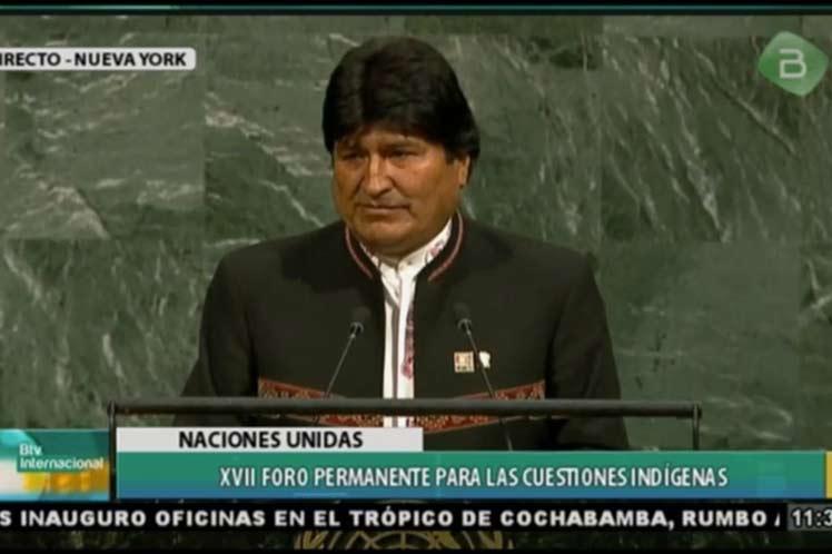 Evo Morales, Bolivia, indígenas, ONU