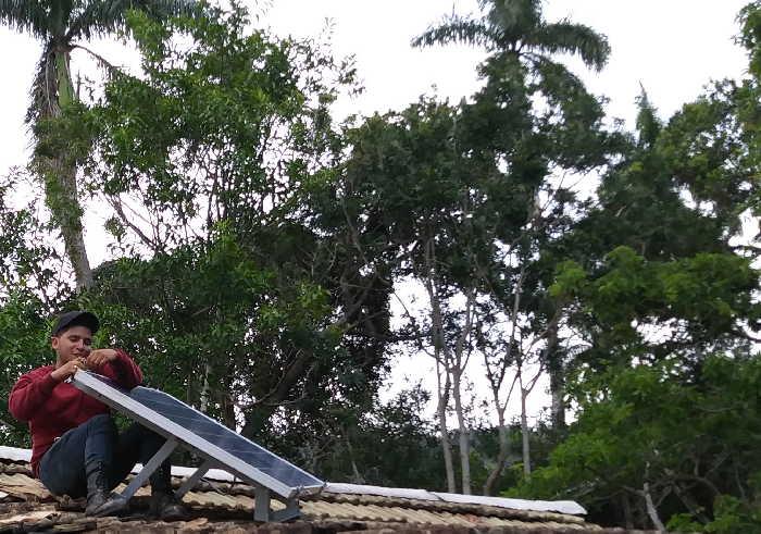sancti spiritus, empresa electrica, paneles fotovoltaico, viviendas aisladas