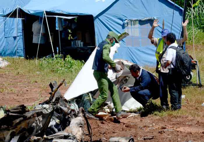accidente aéreo, Cuba, víctimas