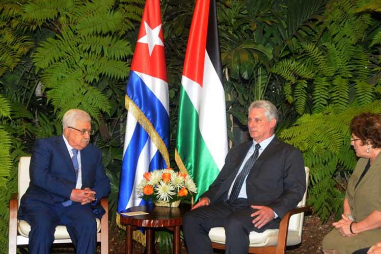 Cuba, Palestina, Díaz-Canel, Mahmoud Abbas
