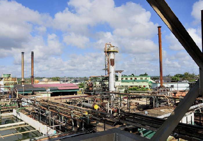 sancti spiritus, refineria sergio soto, cabaiguan, liquido asfaltico, gas