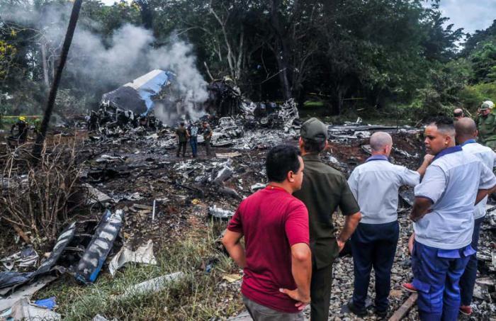 Accidente aviación. Cuba, Estados Unidos