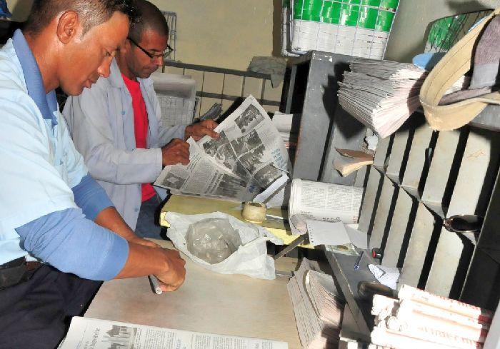 sancti spiritus, correos de cuba, distribucion de la prensa, periodicos, poligrafico