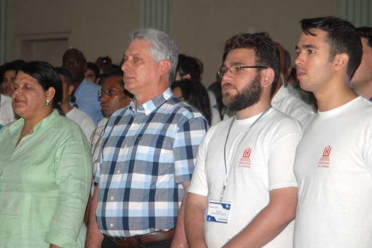 Díaz-Canel, IX Congreso, FEU