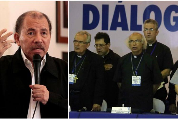 Nicaparagua, Daniel Ortega, obispos, diálogo