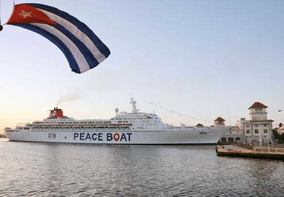 cuba, japon, crucero por la paz