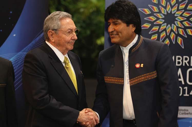 Raúl Castro, Evo Morales, Cuba, Bolivia