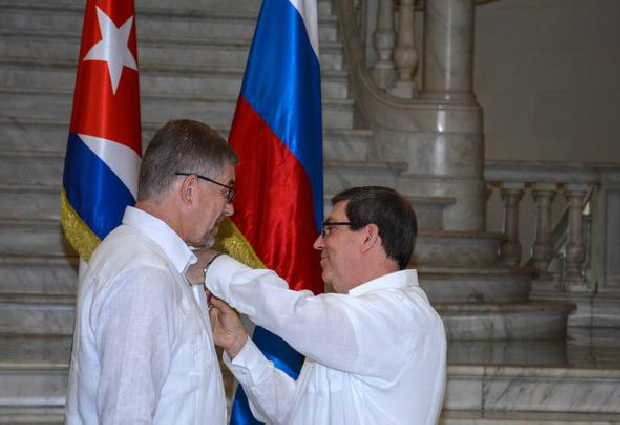 rusia, cuba, medalla de la amistad, embajador de rusia en cuba