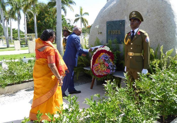 cuba, la india, presidente de la india, fidel castro, santa ifigenia