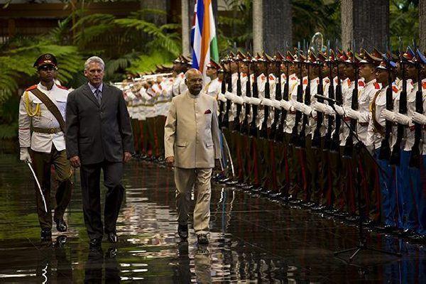 cuba, india, miguel diaz-canel, presidente de india, la india