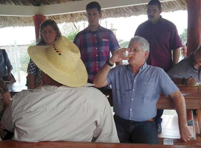 sancti spiritus, miguel diaz-canel, presidente de cuba, intensas lluvias en sancti spiritus