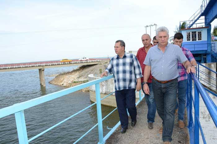sancti spiritus, intensas lluvias en sancti spiritus, presidente, Cuba, Miguel Díaz Canel