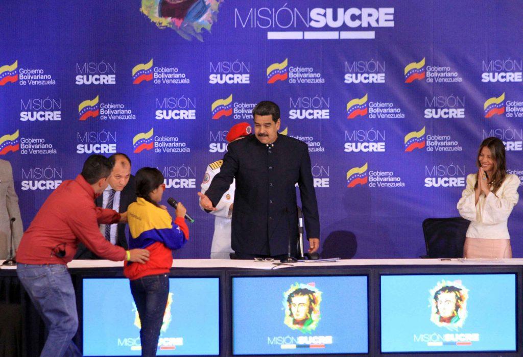 Venezuela, educación, Nicolás Maduro