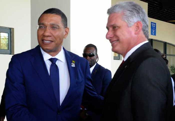 cuba, jamaica, caricom, caricom-cuba, miguel diaz-canel, presidente de cuba