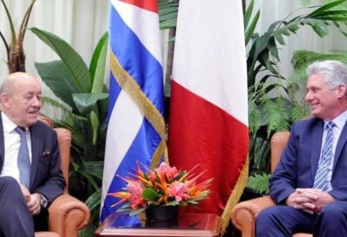 cuba, francia, canciller de francia, miguel diaz-canel, presidente de cuba