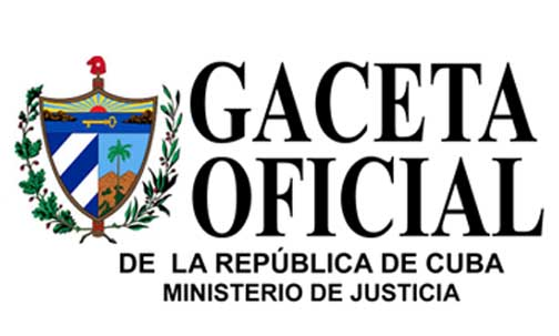 gACETA oFICIAL, cUBA, PROPIEDAD INDUSTRIAL