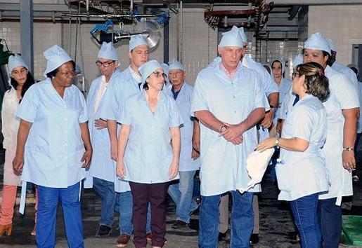 cuba, la habana, miguel diaz-canel, presidente de cuba, antillana de acero, instituto de investigaciones para la industria alimentaria