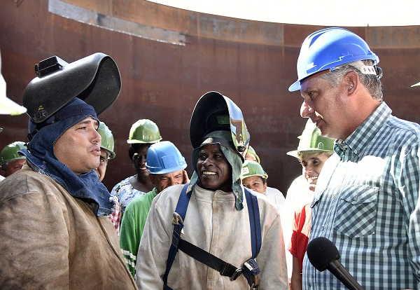 cuba, matanzas, cupet, miguel diaz-canel, presidente de cuba, combustible, economia cubana