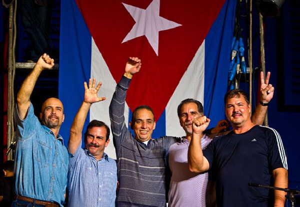 cuba, los cinco, fidel castro, antiterroristas cubanos, heroes cubanos