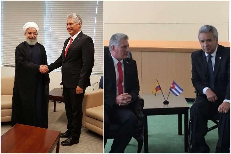 Díaz-Canel, Irán, Ecuador, Cuba