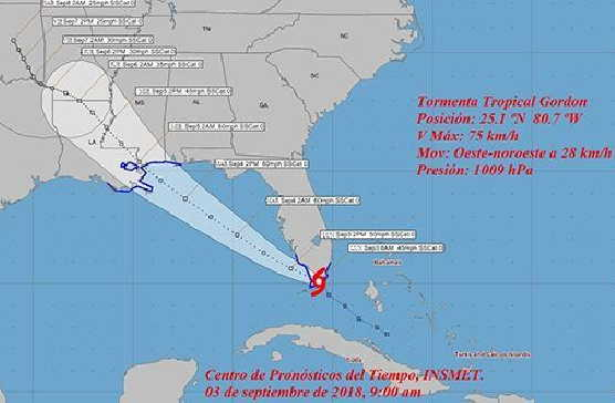 cuba, lluvias, tormanta tropical, instituto de meteorologia