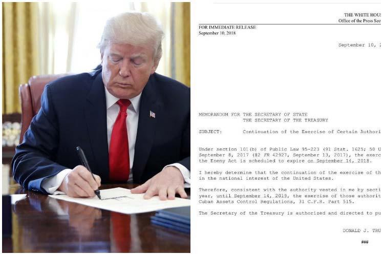 Donald Trump, bloqueo, Cuba