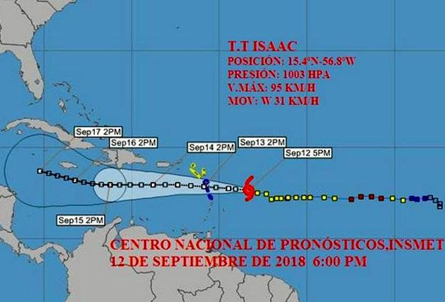 cuba, tormenta tropical, instituto de meteorologia