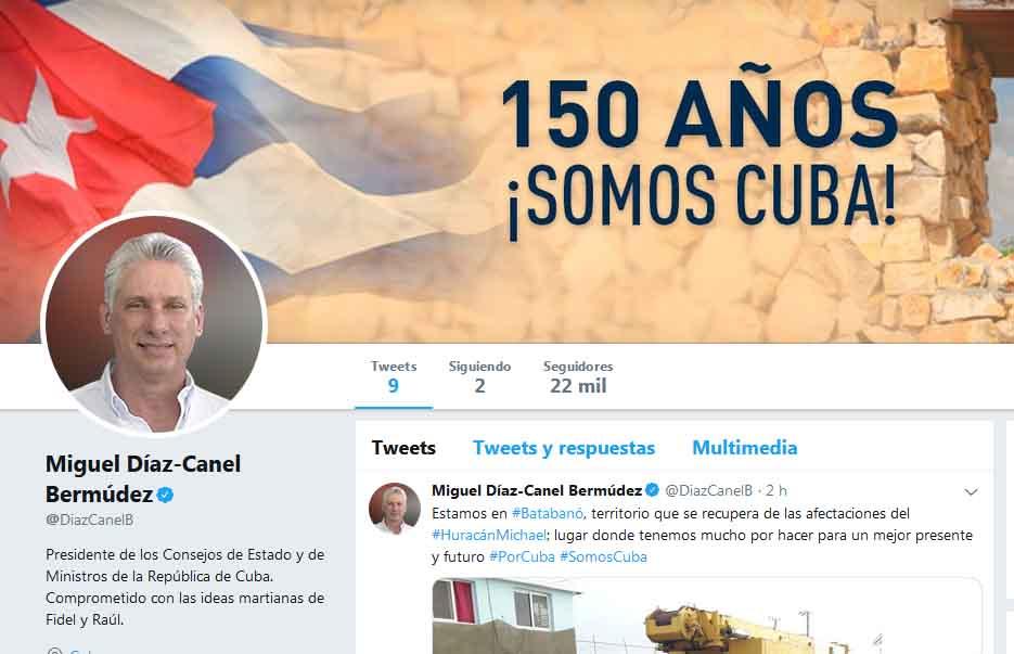 Díaz-Canel, twitter, Cuba