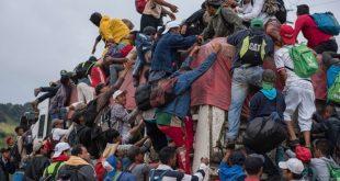 Migrantes, caravana, México