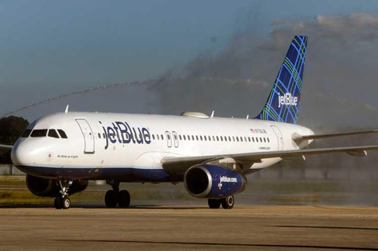 Cuba, EE.UU. Jeblue, aviación