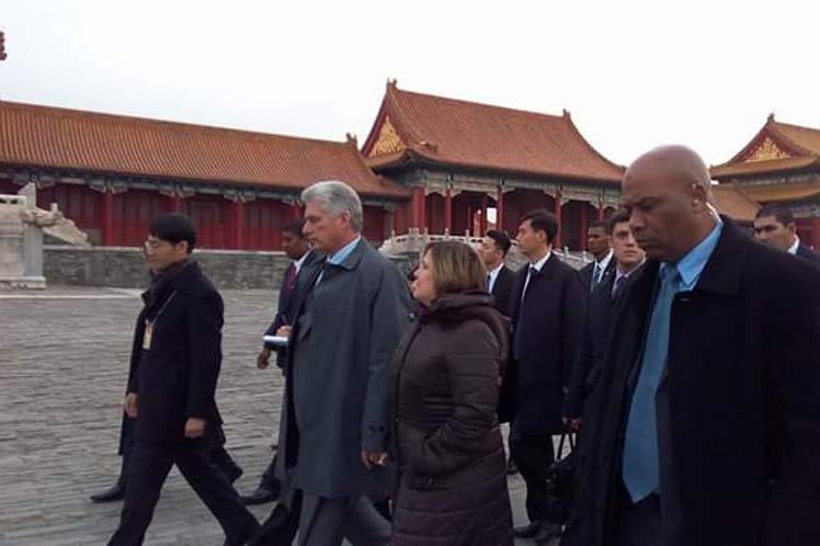 cuba, china, presidente de cuba en china, miguel diaz-canel