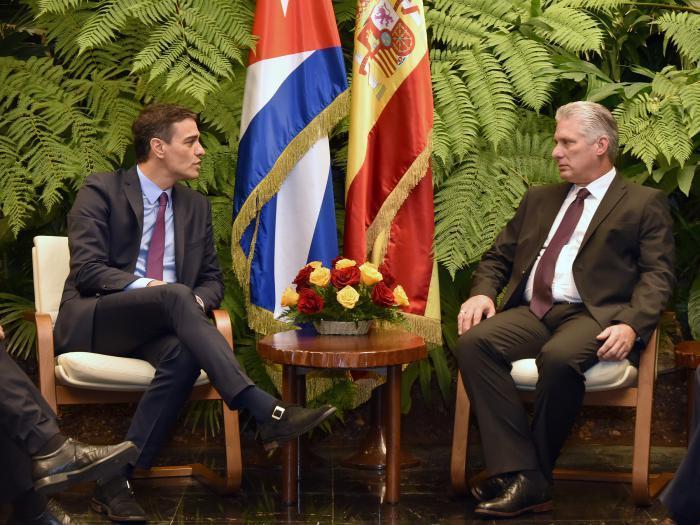 cuba, gobierno de españa, pedro sanchez, miguel diaz-canel, presidente de cuba