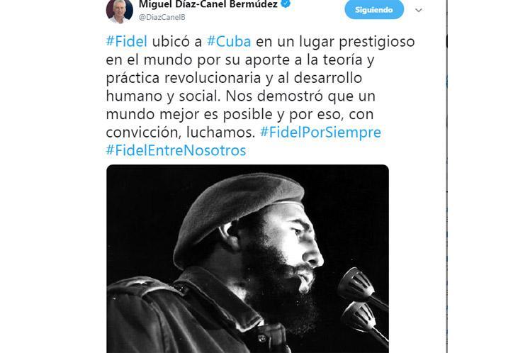 cuba, fidel castro, #fidelporsiempre, miguel diaz-canel, presidente de cuba, homenaje a fidel