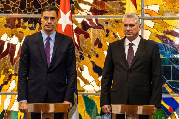 cuba, españa, gobierno de españa, miguel diaz-canel, pedro sanchez, presidente de cuba