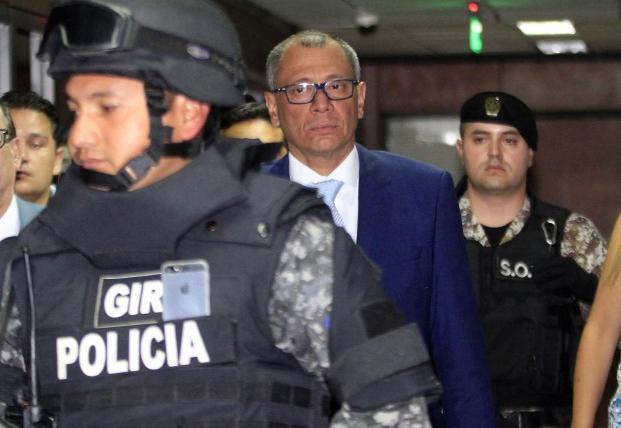 Médicos confirman que exvicepresidente de Ecuador está
