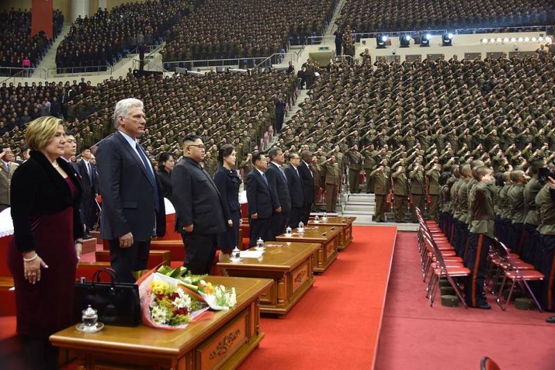 cuba, presidente de cuba en la republica popular democratica de corea, corea del norte