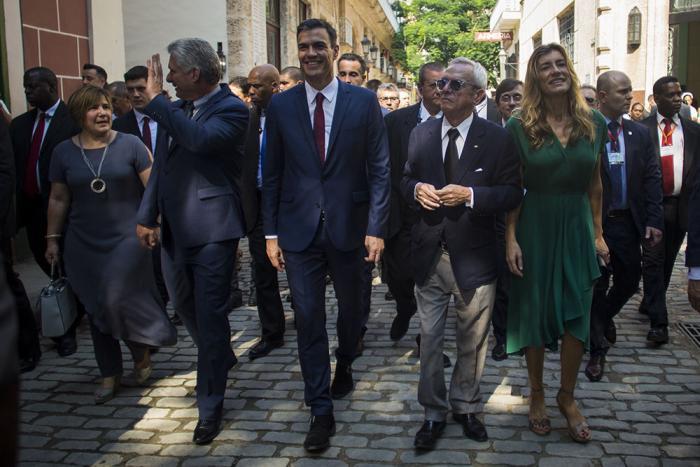 cuba, españa, gobierno español, pedro sanchez, miguel diaz.canel, presidente de cuba