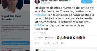 Díaz-Canel, FAR, Granma, México
