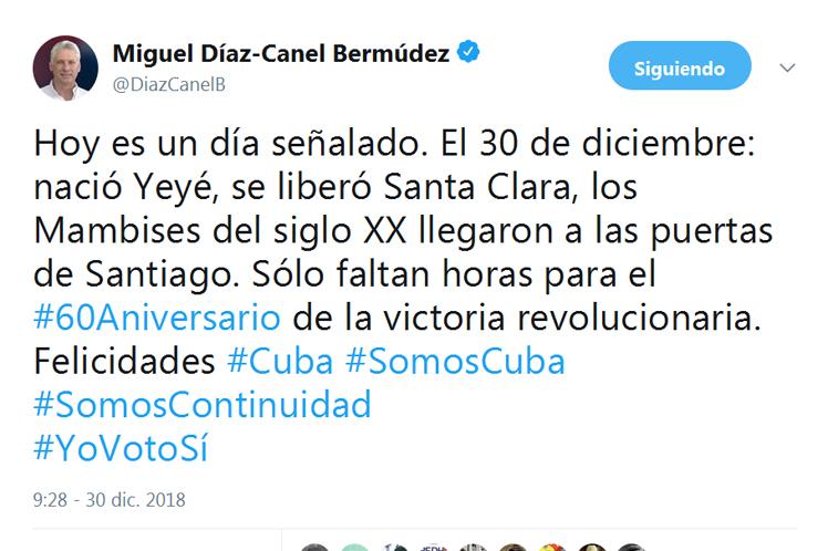 Díaz-Canel, Revolución, Triunfo