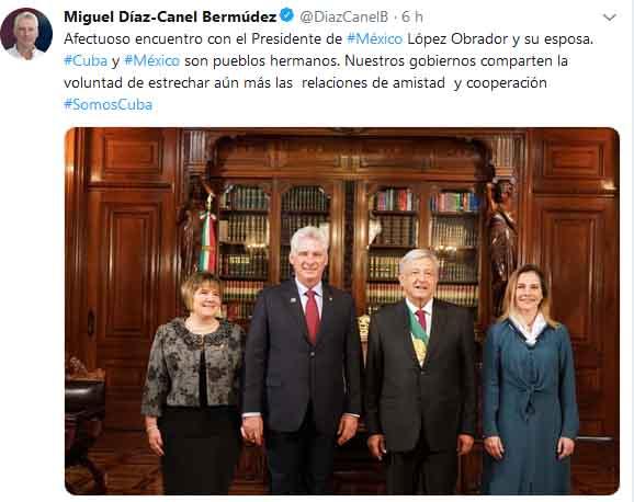 Cuba, México, Díaz-Canel, López Obrador