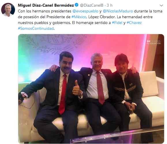 Díaz-Canel, evo Morales, Nicolás Maduro, México