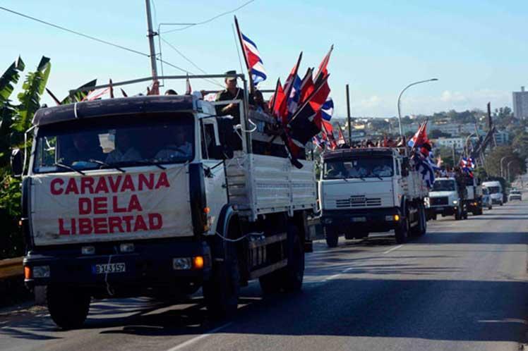 cuba, caravana de la libertad, una sola revolucion, revolucion cubana, fidel castro