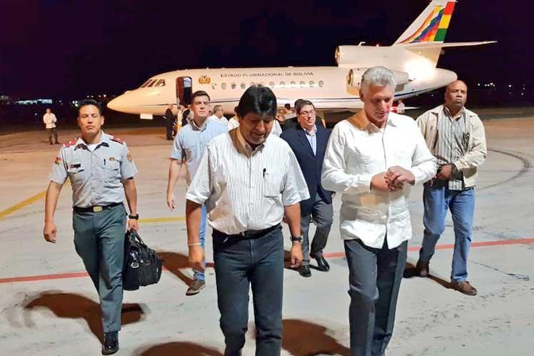 Evo Morales, Cuba, Díaz-Canel, Bolivia