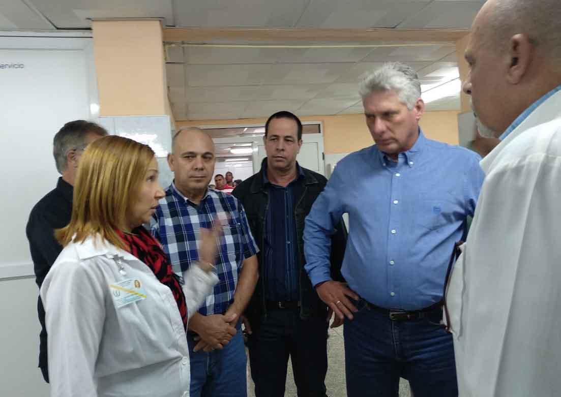 Díaz-Canel, Hospital, Sancti Spíritus