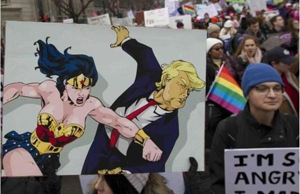 estados unidos, donald trump, mujeres, protestas