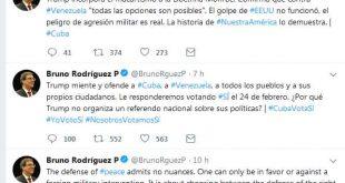 Cuba, Minrex, Donald Trump